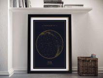Custom Star Charts of the Night Sky Canvas