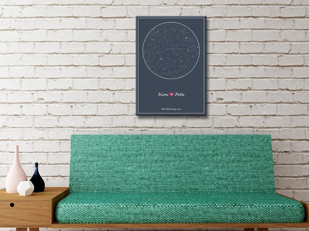 Personalised Star Map Style 8
