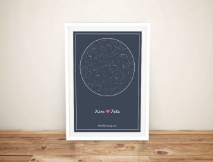 Custom Star Map Charts of the Sky Canvas