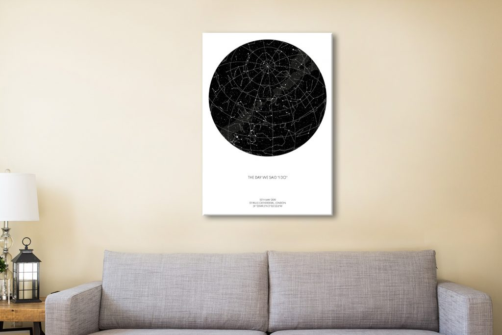 Buy Personalised Star Map Canvas prints