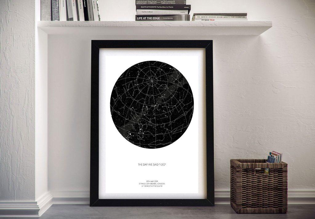 Buy Custom Star Map Wall Art