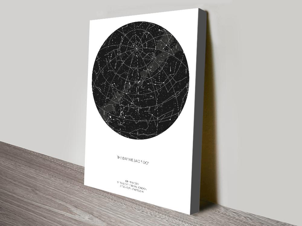 Personalised Star Map Artwork Melbourne