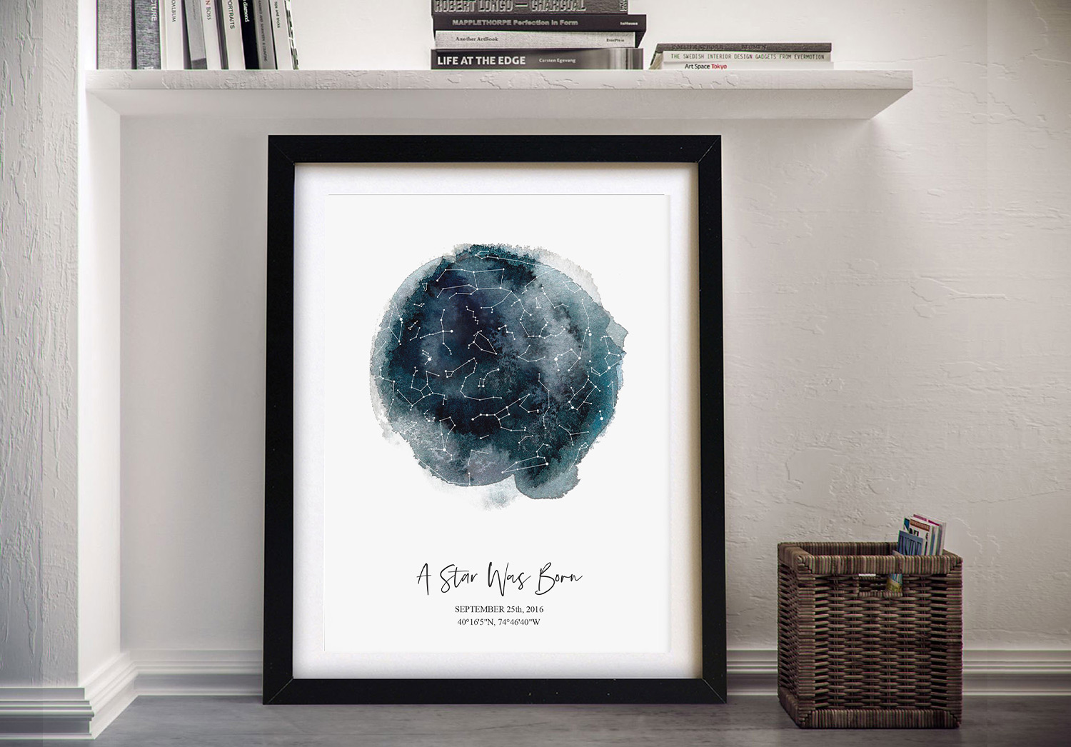 Create your own Star Constellations Map‎ Art Gifts Online | Personalised Star Map Style 13