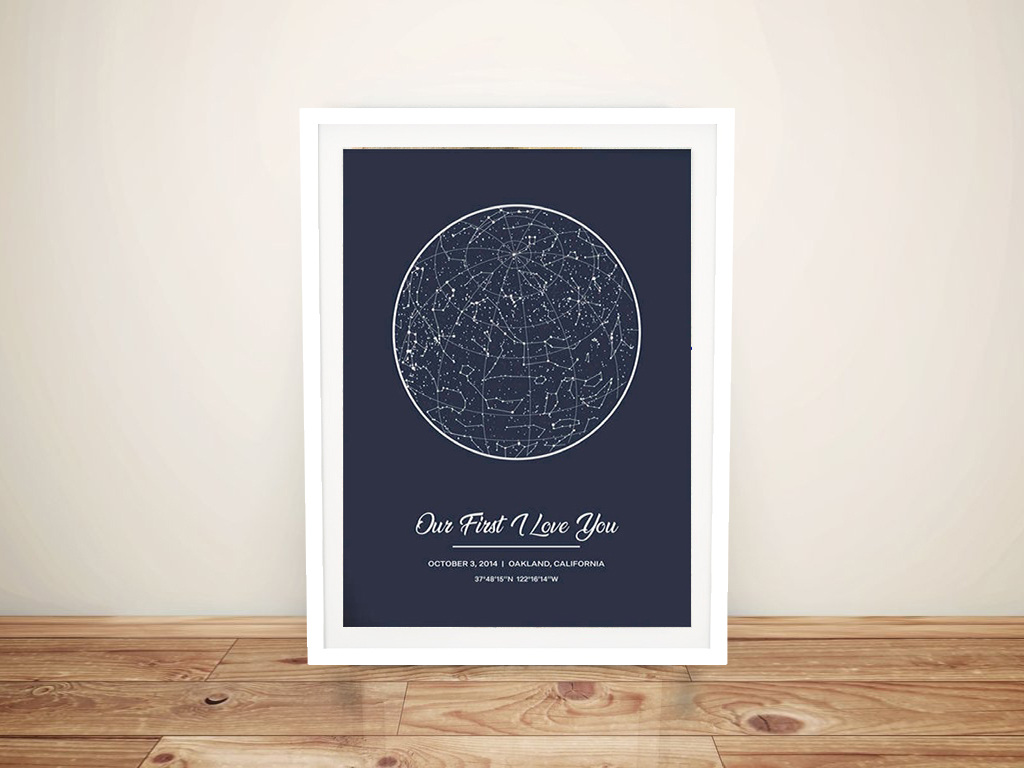 Create Your Own Star Map‎ Sydney Australia | Personalised Star Map Style 12