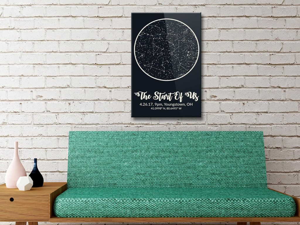 Personalised Star Map Style 7