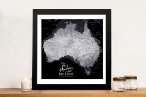 Buy Custom Push Pin Maps of Australia