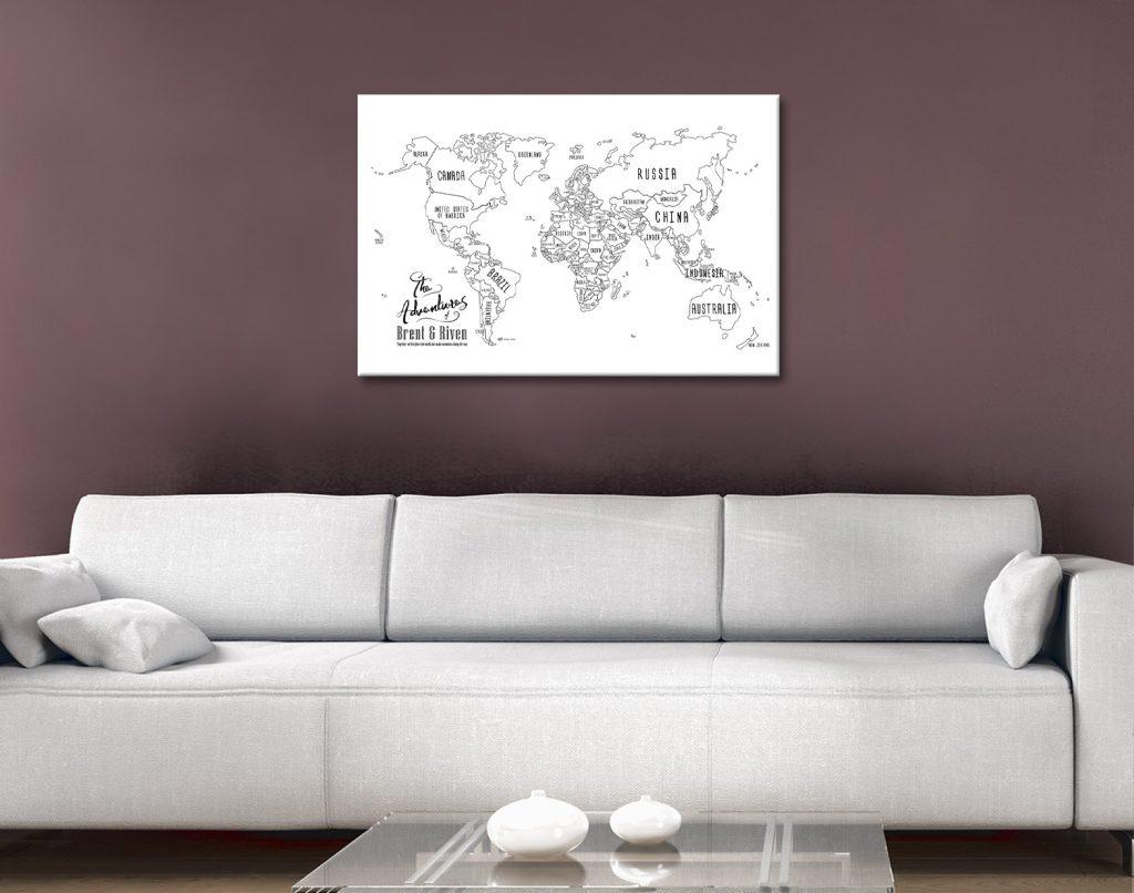 Chalkboard World Map Art