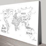 Personalised-White-Chalkboard-Push-Pin-Travel-Map