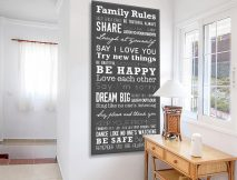 Buy a Slate Grey House Rules Tram Banner