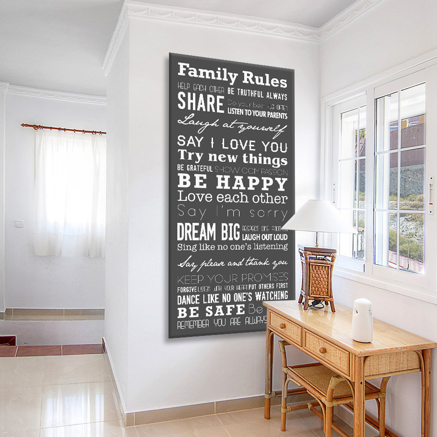 Buy a Slate Grey House Rules Tram Banner | House Rules Tram Banner