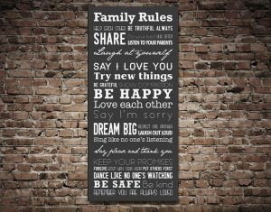 Buy a Ready to Hang House Rules Tram Scroll