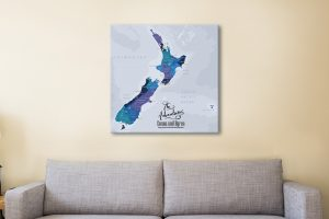 New Zealand Map Pinboard Canvas Artwork