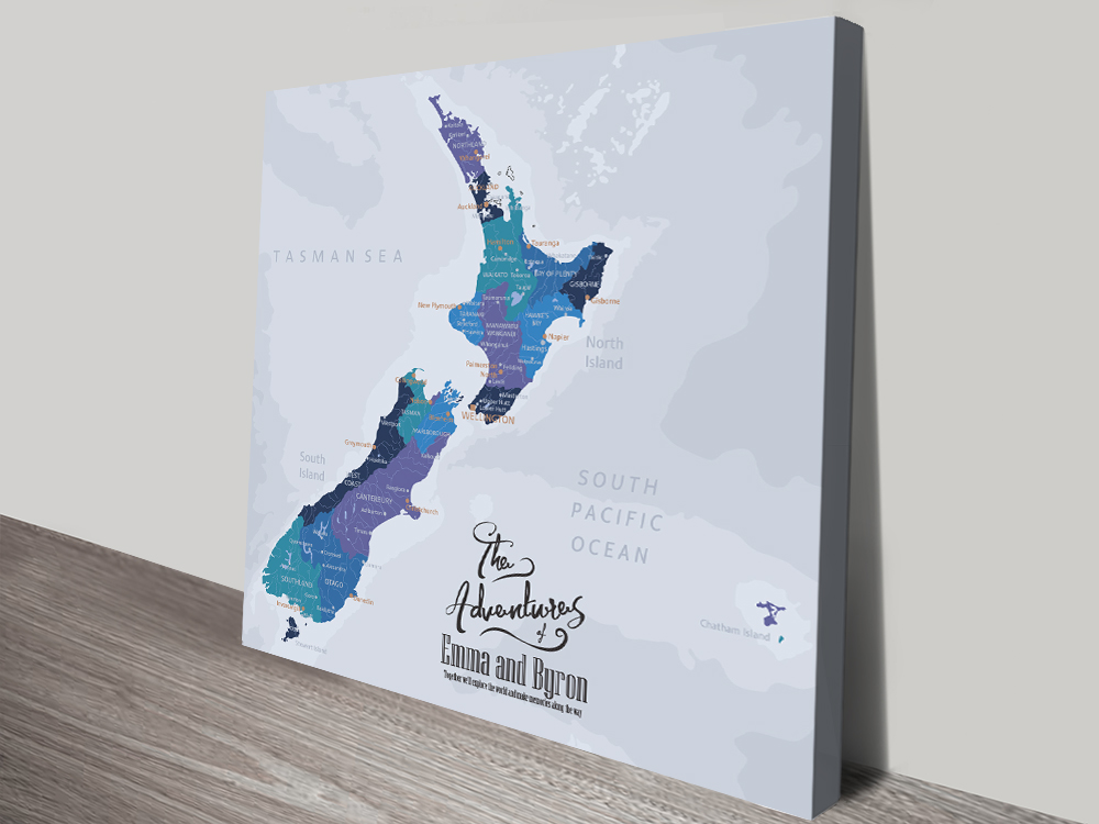 New Zealand Personalised Push Pin M