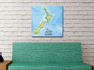 New Zealand Pinboard Map on Canvas