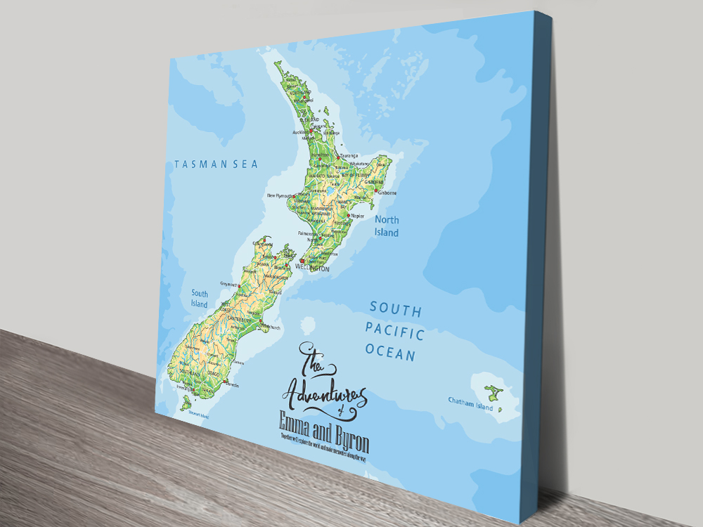 New Zealand Pinboard Map