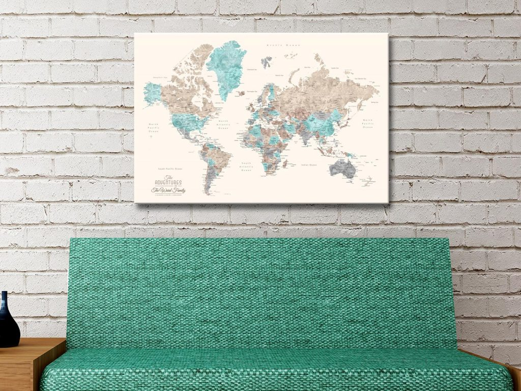 Buy Unique Pushpin World Maps In a Variety of Colours