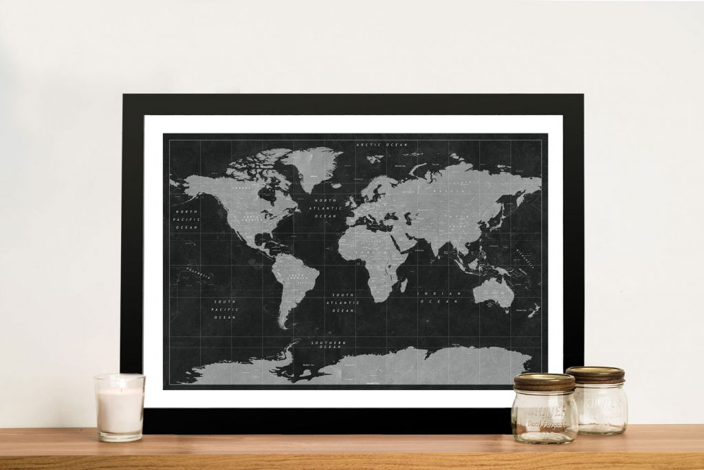 Buy Black and White Pushpin Maps Cheap Online