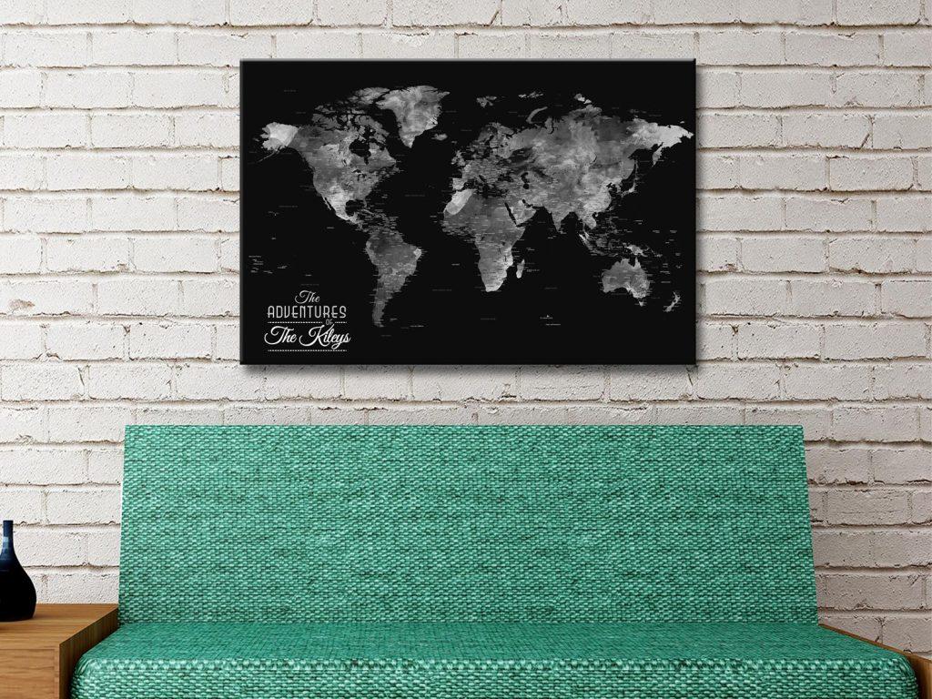 Buy Unique Watercolour Style Map Art Online