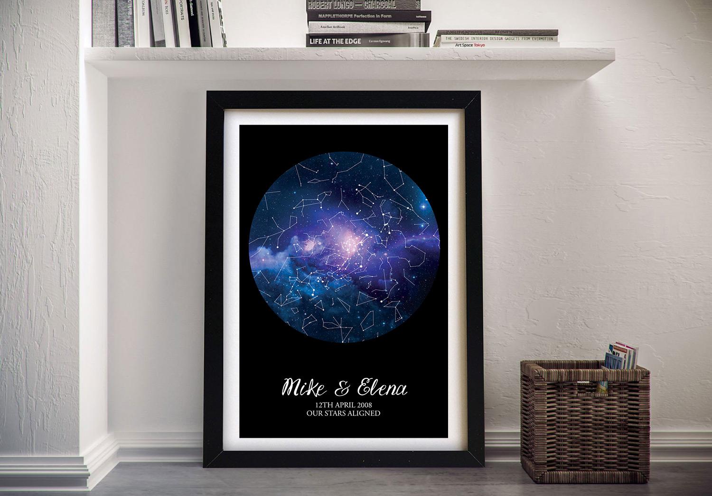 Personalised Blue Cosmos Star Map | Personalised Blue Cosmos Star Map Style 23
