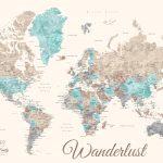 Wanderlust-Pastels-Watercolour-World-Map