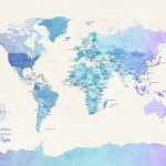 m1087-Watercolour-Political-Map-of-the-World