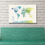 Buy-a-World-Map-in-Yellow-and-Green-Tones