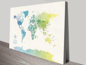 Buy Affordable Political World Maps Online