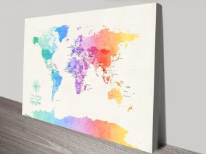 Buy Colourful Minimalistic Map Art Online