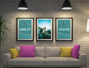 Buy a 3-Piece Wedding Vows Canvas Art Set