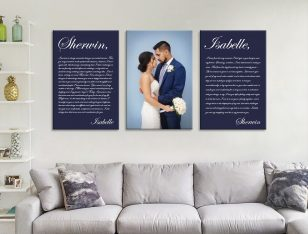 Buy Custom 3-Panel Wedding Gift Canvas Art