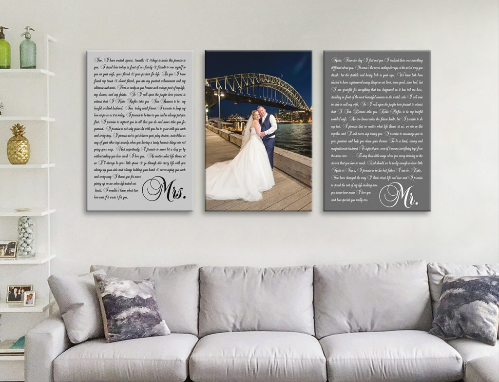 Buy Affordable Triptych Wedding Vow Word Art