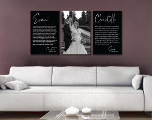 Buy Affordable Triptych Anniversary Gift Artwork