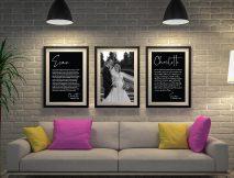 Buy Custom Black & White Wedding Vow Art