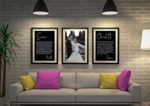 Buy Custom Black & White Wedding Vow Art