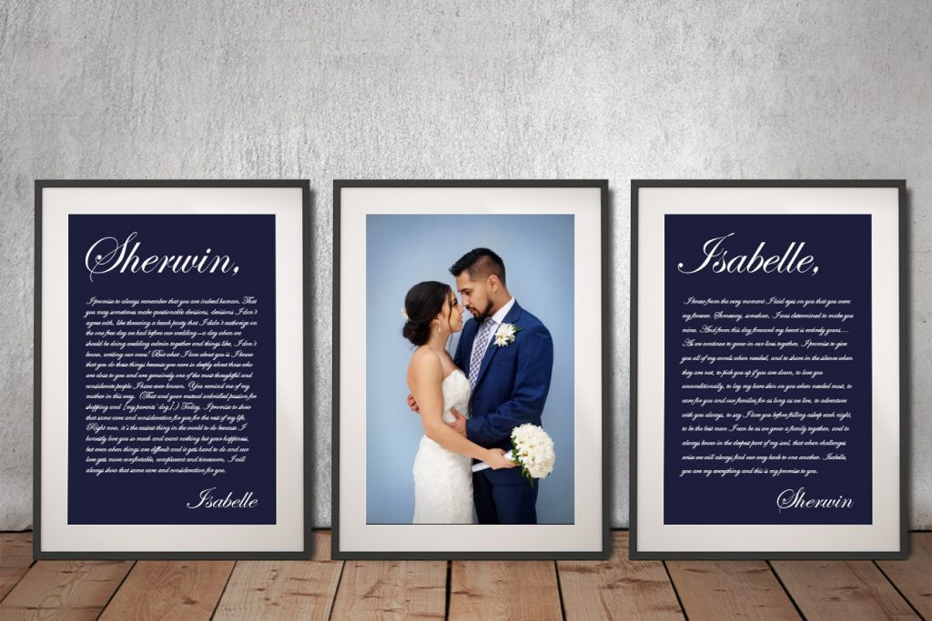 Buy Ready to Hang Personalised Wedding Gift Prints