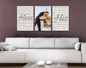 Buy Wedding Vow Triptych Art Unique Gifts