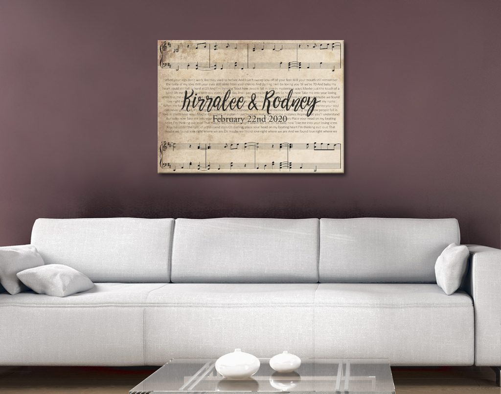 Buy Personalised Sheet Music Romantic Gifts AU