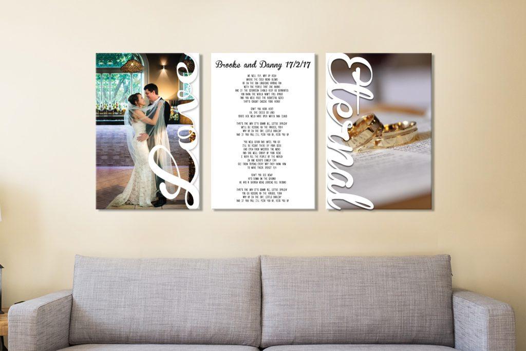 Wedding vows Canvas Artwork