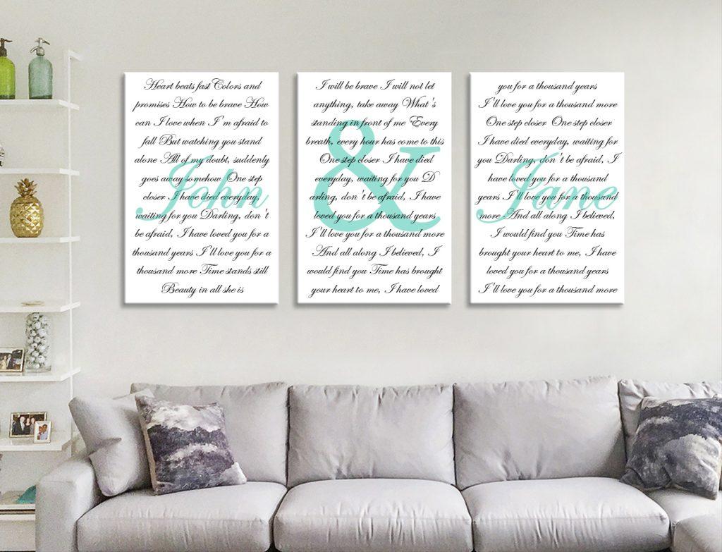 Buy Custom Wedding Vows & Song Lyrics Artwork