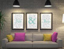 Buy A Thousand Years Triptych Wedding Wall Art