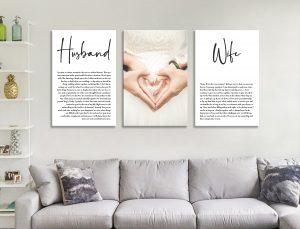 Buy Personalised Wedding Vow Canvas Art