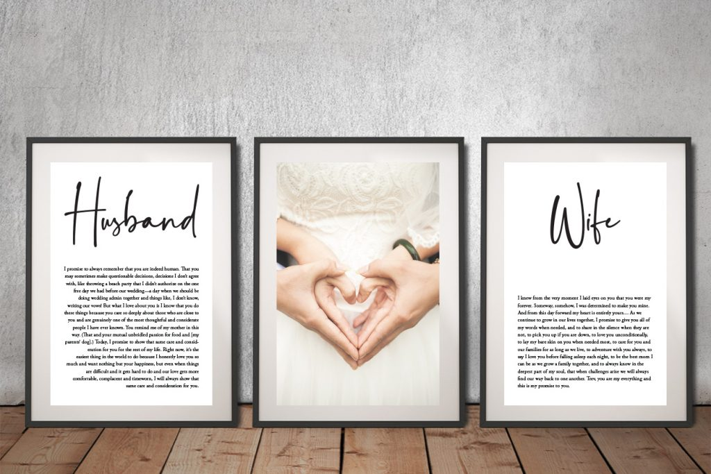 Get Ready to Hang Custom Wedding Gifts AU
