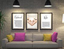 Buy 3-Panel Canvas Wedding Vow Art
