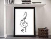 Music Notes Word Canvas