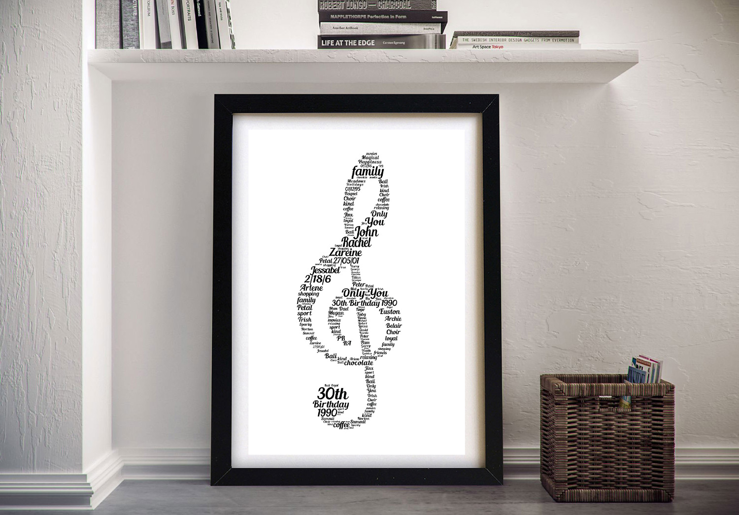 Music Notes Word Canvas | Music Notes Personalised Art