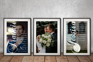 Personalised Romantic 3-Panel Canvas Word Art