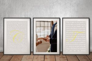 Buy Affordable Custom Romantic Triptych Art