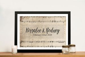 Buy Personalised Sheet Music Framed Canvas Art