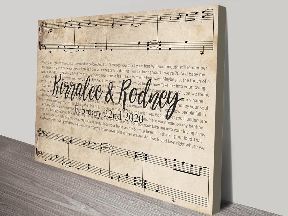 Buy Affordable Custom Sheet Music Wall Art