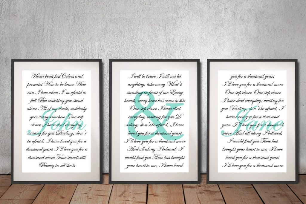 Buy Ready to Hang First Dance Wedding Artwork
